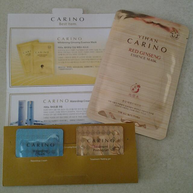 Carino ginseng mask, cream, peeling gel (made in Korea) (new)