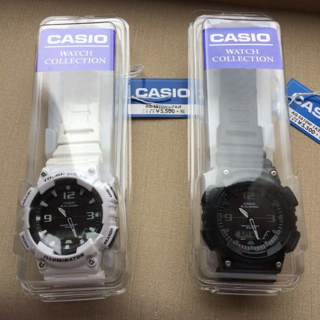 Casio 太陽能手錶 日本限定 高Cp值 只剩白色