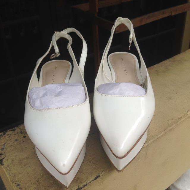 charles & keith white shoes