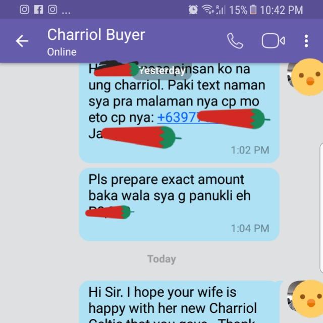 Charriol proof of sale