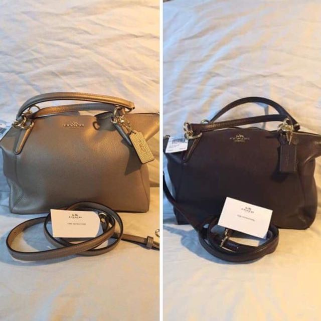 COACH SIG ZIP TOTE LEATHER BAG