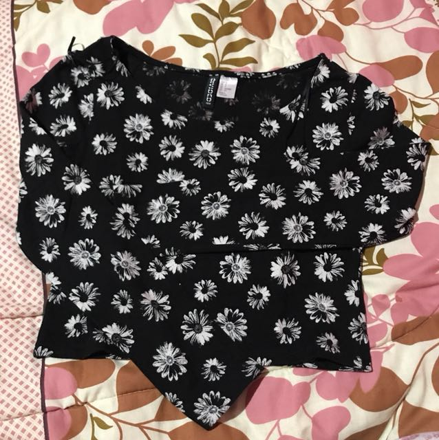 Crop Top Lengan Panjang H&M