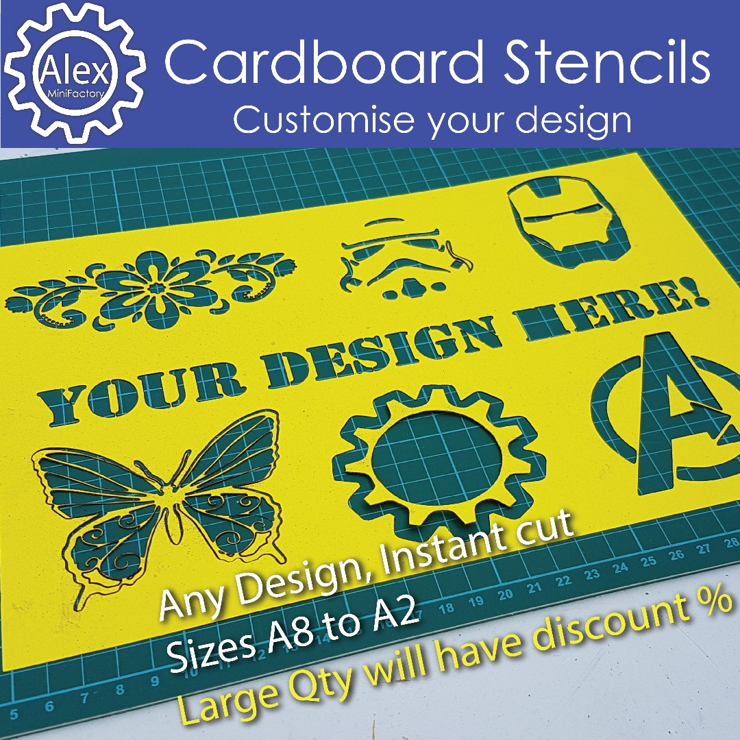 Custom Stencils On Paper Any Designs For Scrapbooking