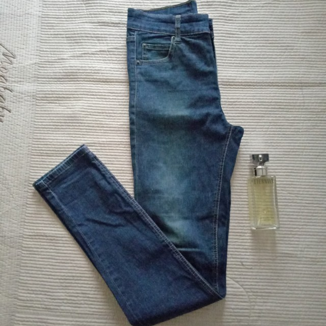 Denim high waisted skinny jeans