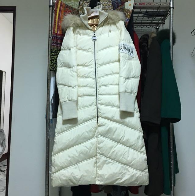 DKNY長版雨絨衣外套
