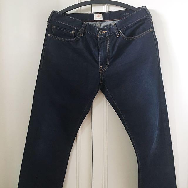 Dockers dark denim pants