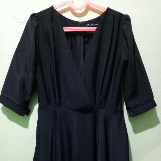 Dress Kimono Hitam