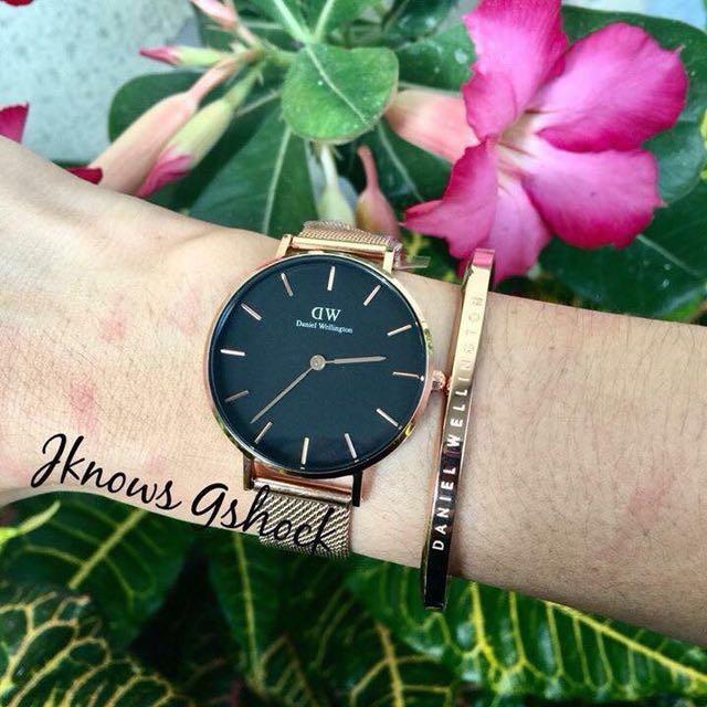 DW watch with cuff