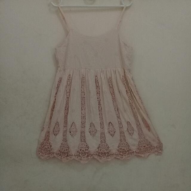 Earth Kawaii Vintage Pink Beige Dress