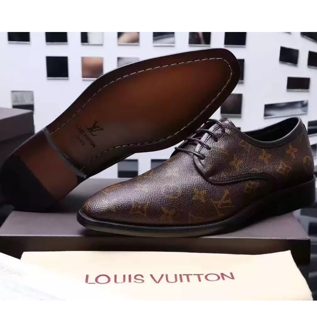 4b209e723a4 EAWEDGOS 2018 All Size Louis Vuitton LV Leather Casual Formal Shoe ...