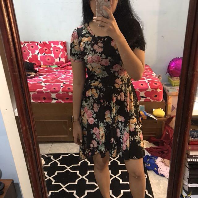 Floral hi low dress