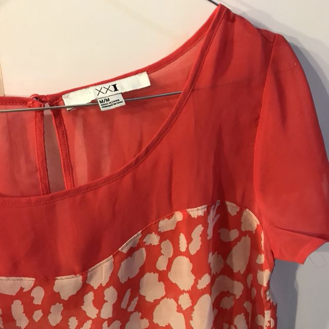 Forever21 red blouse