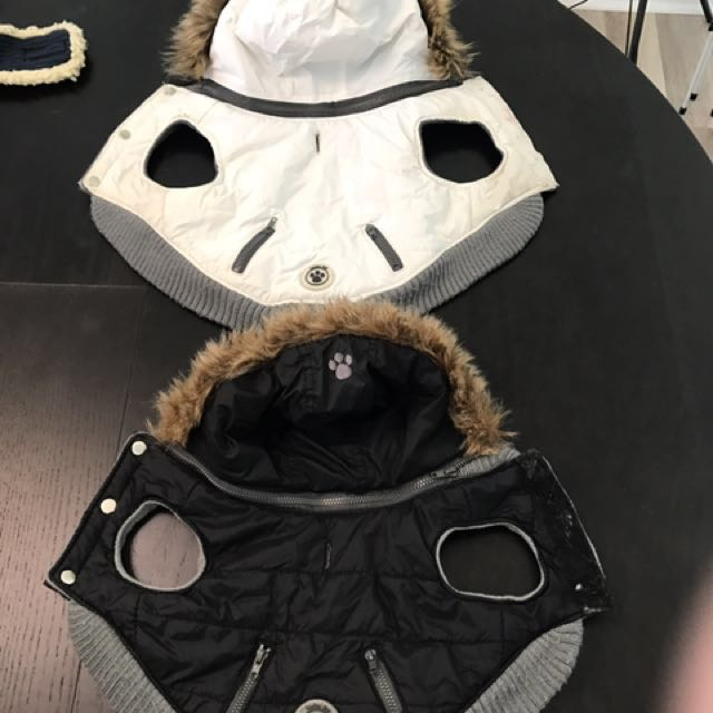 Fou Fou Dog Black & White Parka $25each