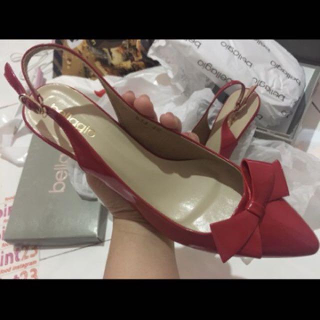 fs heels cantik red bellagio 😍