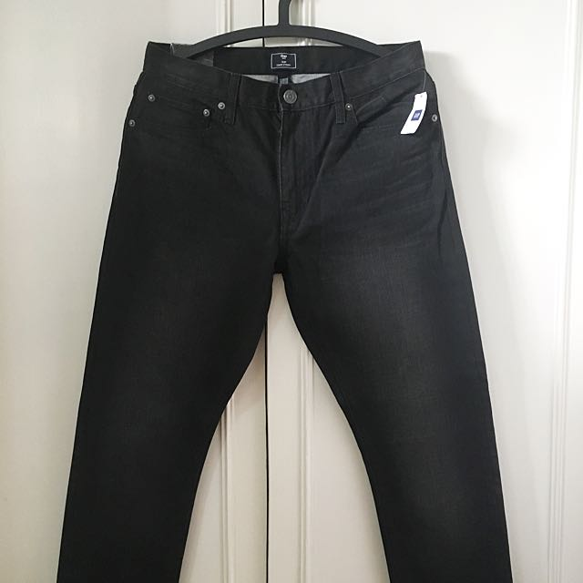 Gap black slim fit denim pants