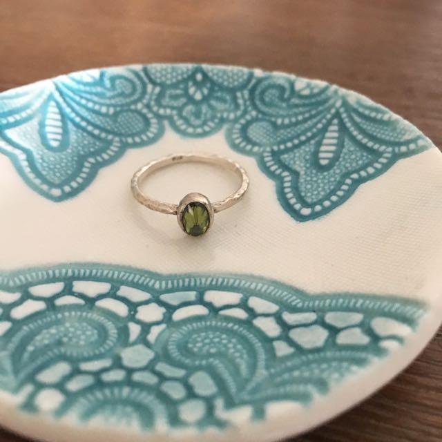 Green Gem Stone Ring