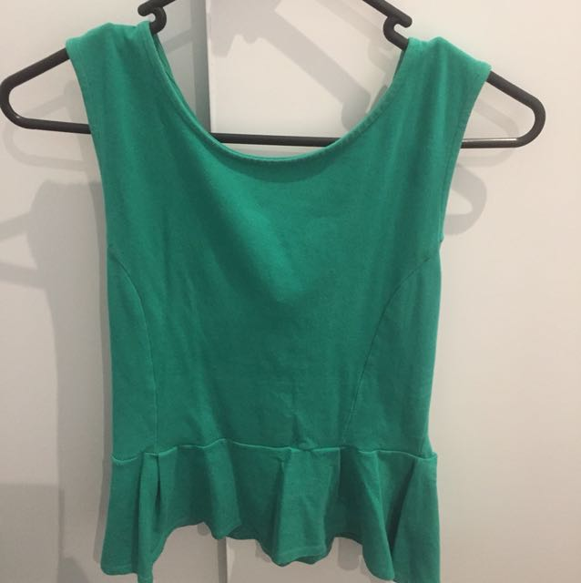 Green glassons top