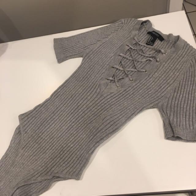 Grey bodysuit