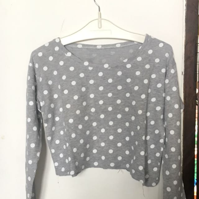 Grey polkadot sweater / sweatshirt