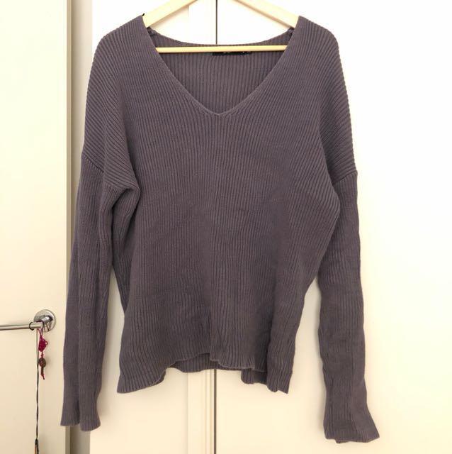 Greyish purple Knit Jumper