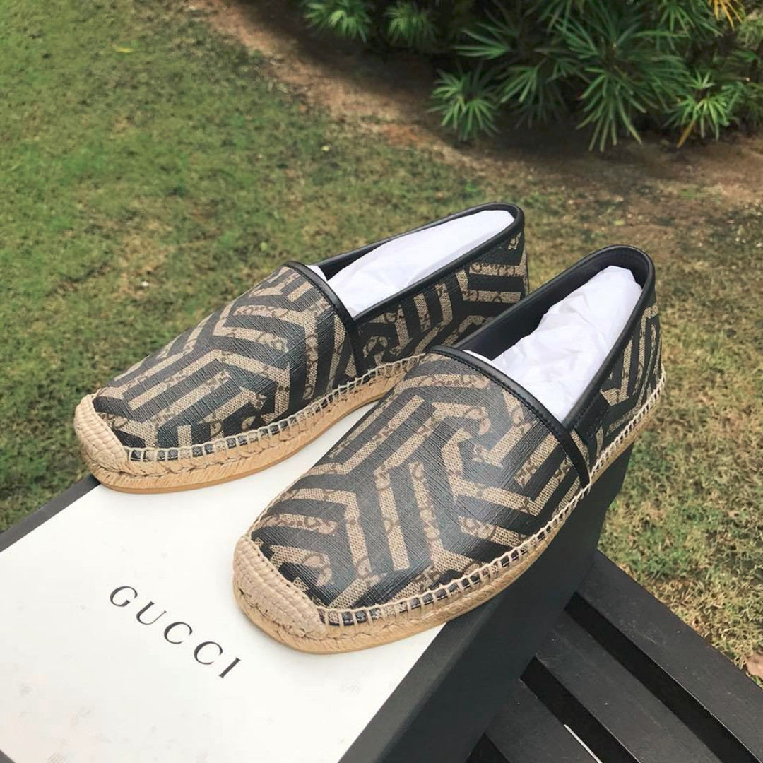 3bf24f802175 Gucci Men s GG Supreme Canvas Kaleidoscope Espadrilles Shoes