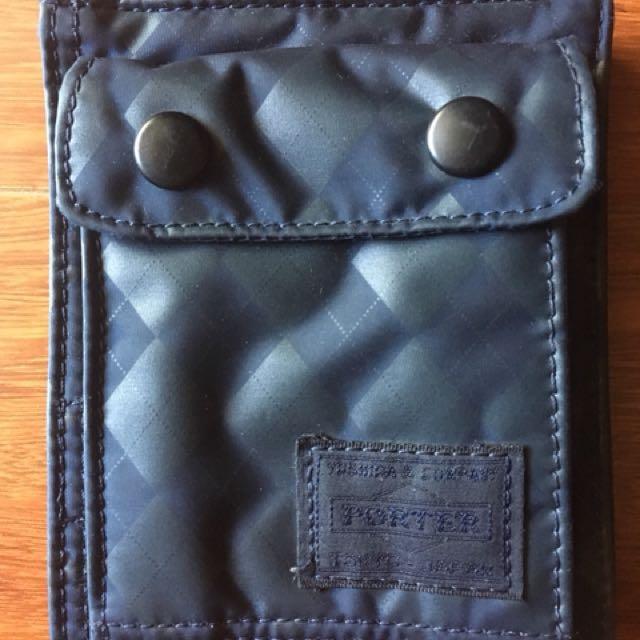Head Porter Master Navy two-fold wallet