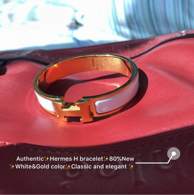 Hermès H bracelet WITH RECEIPT✨Authentic ✨ size 18cm ✨ 80%New