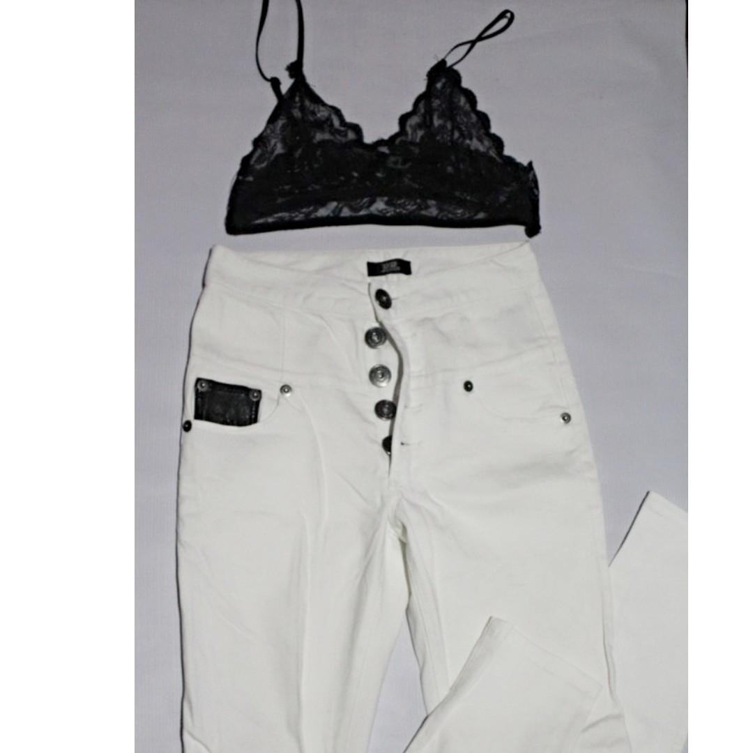High Waist Pants (White)