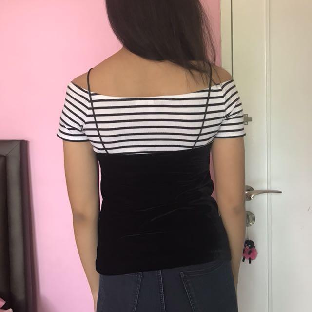 H&M black lace cami / tank top