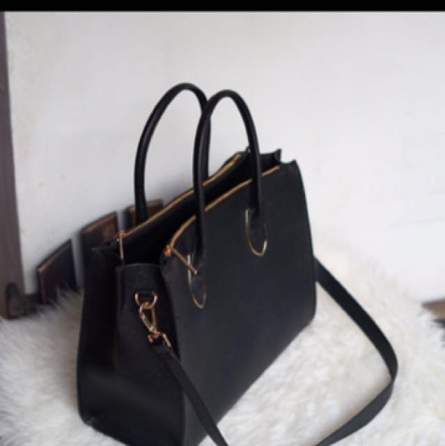 H&M Black Tote Bag
