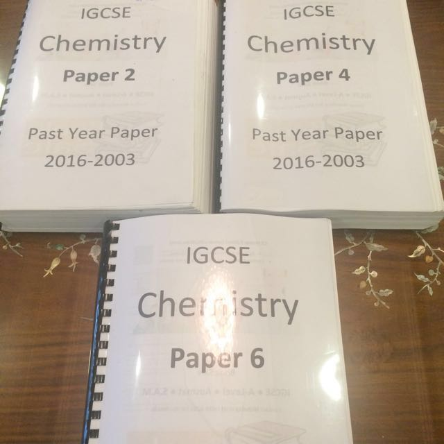 IGCSE Chemistry Past Year Papers, Textbooks on Carousell
