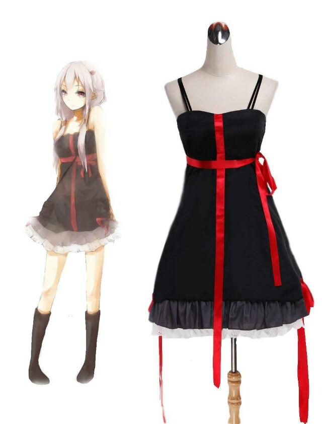 Inori Guilty Crown Black Dress