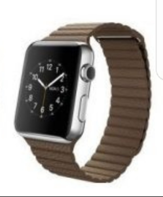 Iwatch brown trap leather loop band