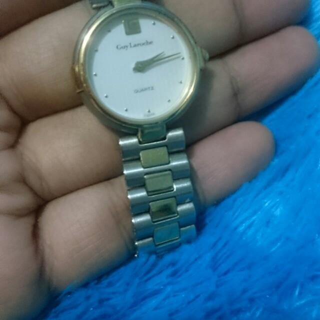 Jam tangan second import/ jam tangan wanita eksklusive Guy Laroche