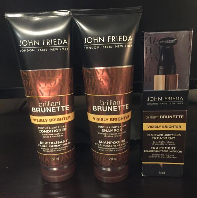 John Frieda Lightening Shampoo, Conditioner & Treatment (Brunette)