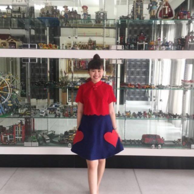 Jolie clothing Alice in wonderland sipao set