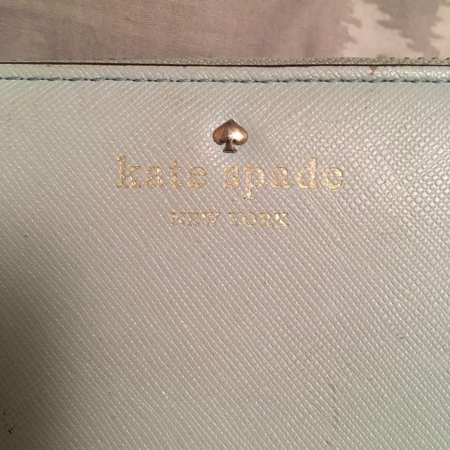 Kate Spade Zip Around Wallet - Tiffany Blue