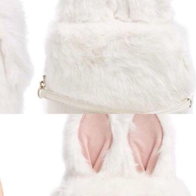 Katespade rabbit furry bag