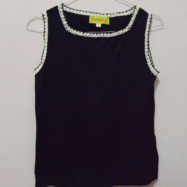 Knitted Colar Tank Top