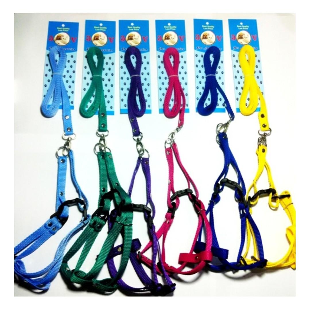 kolar kalung/harnes/tali tuntun kucing dan anjing