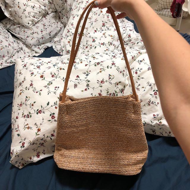 Korean leisure straw bag