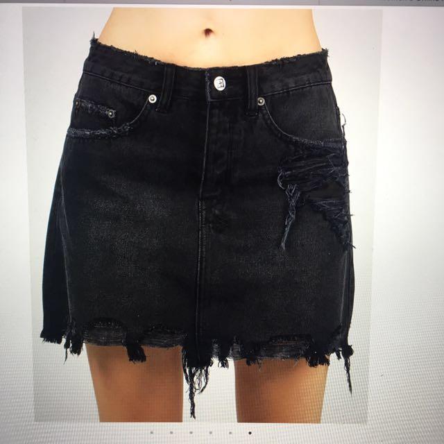 KSUBI mini miss skirt super freak black