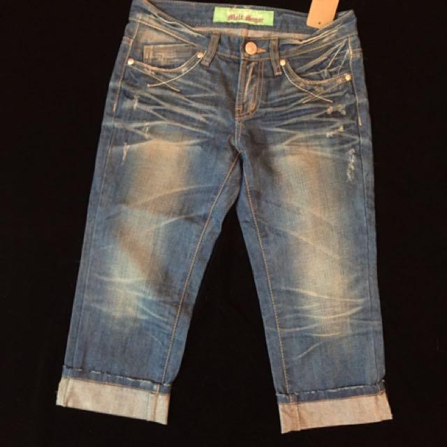 Ladies denim jeans, short & mini dress