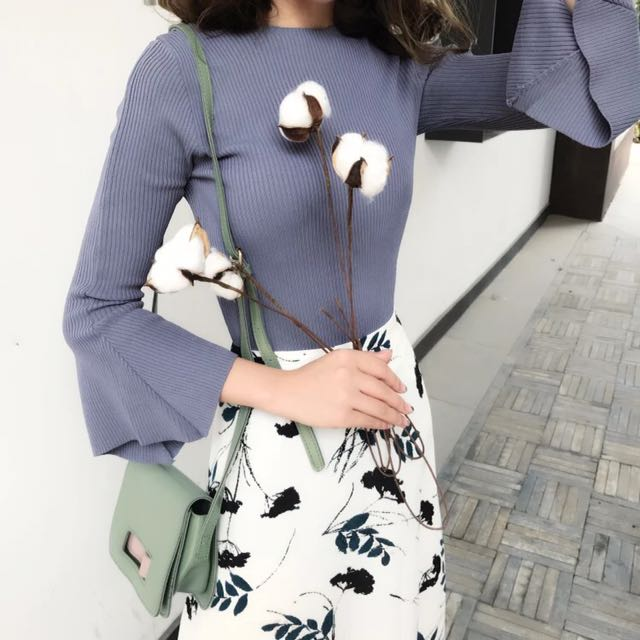 Long Sleeve blue purple top