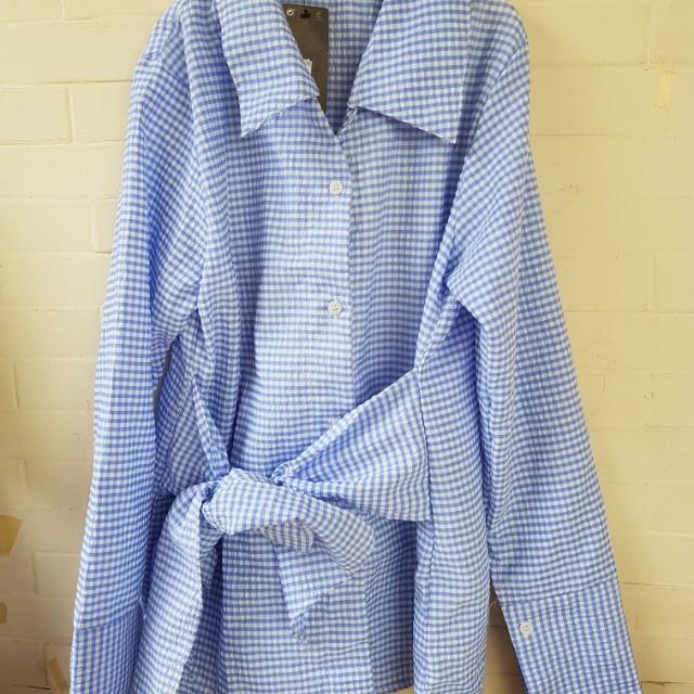 Mango blouse blue sea