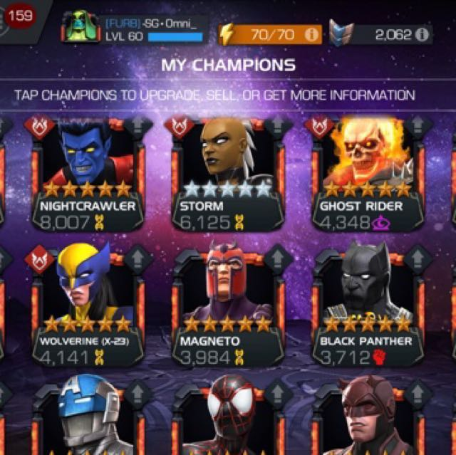 Mcoc account for sale!