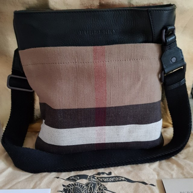 c1518c21ef74 Authentic Mens Burberry Canvas Crossbody Bag