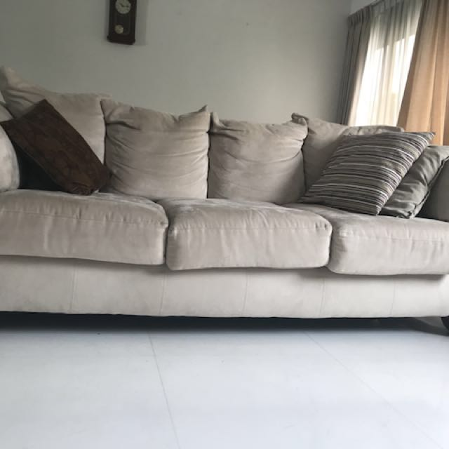 Microfiber Sofa Chaise Set