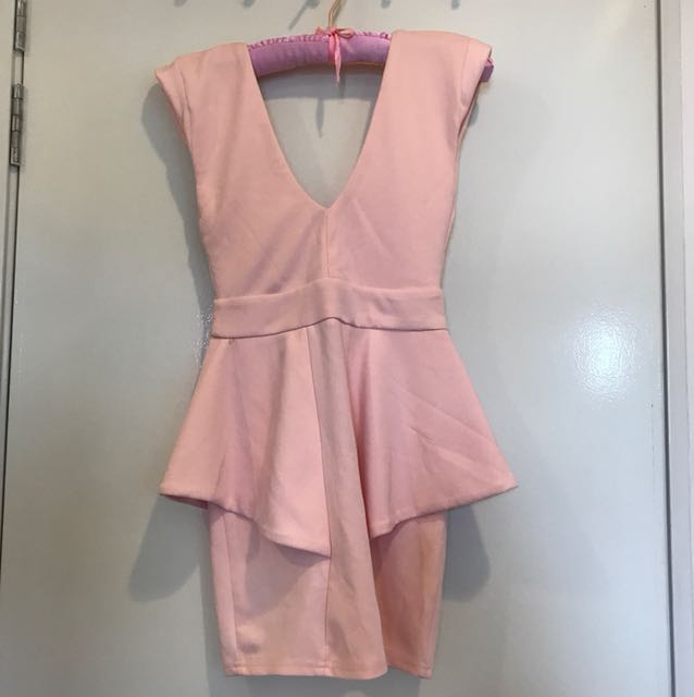 Miss guided Pastel Pink Party Dress