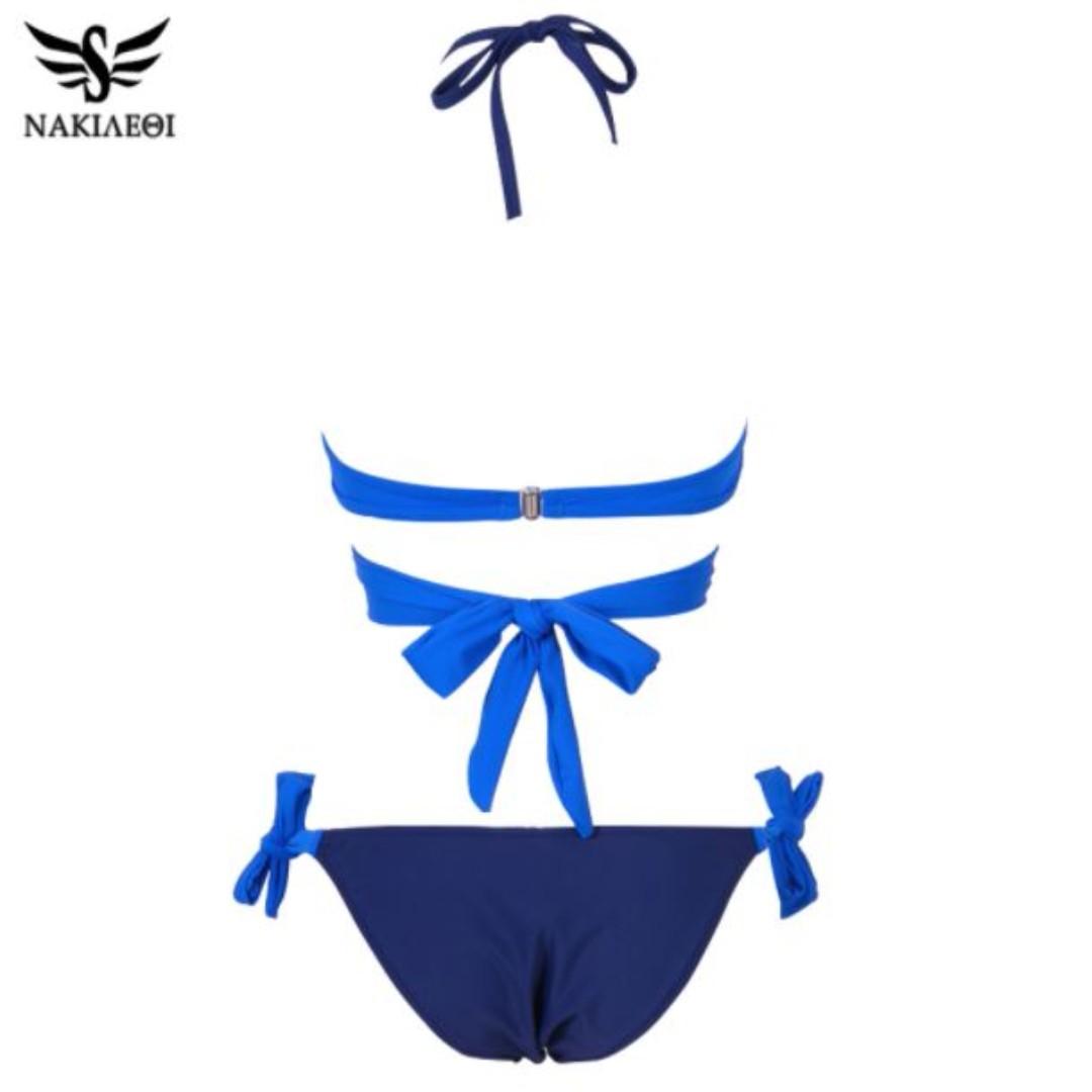 8c41fc30d6 NAKIAEOI Sexy Bikini Women Swimsuit Push Up Swimwear Criss Cross Bandage  Halter Bikini Set Beach Bathing